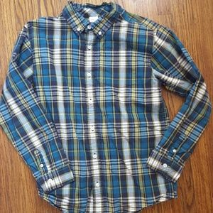 3/$15 Gymboree Plaid Button Down Shirt L 10 12